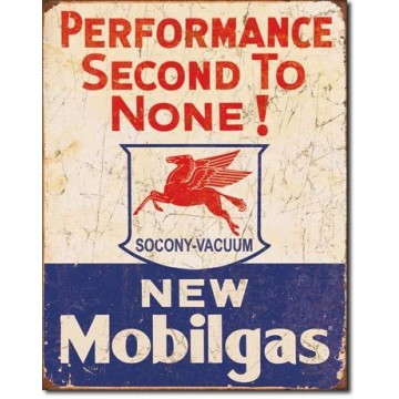 Plaque Mobil gas - 2nd to none