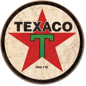 Plaque Texaco 36 round