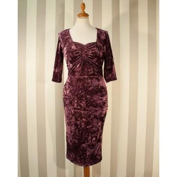 Robe en velours violet