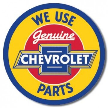 Plaque Chevy round geniune parts