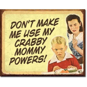 Plaque Ephemera crabby mommy