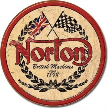 Plaque Norton logo round