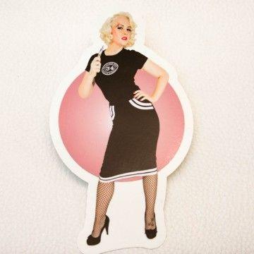 Sticker Miss Liz Cherry doll