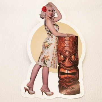 Sticker Miss Liz Cherry tiki
