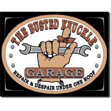Plaque busted knuckle garage