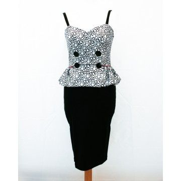 Robe Retro 50's Pin up Silver rain