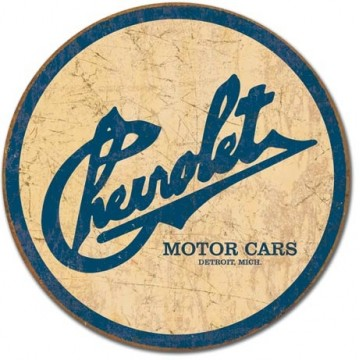 Plaque Chevy historic logo