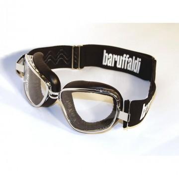 Masque moto INTE Baruffaldi en cuir noir