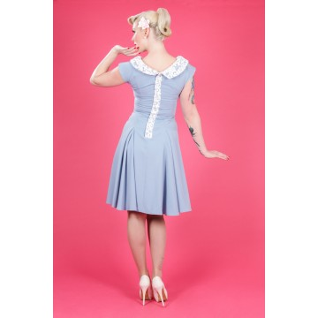 Robe Pin up Ice blue