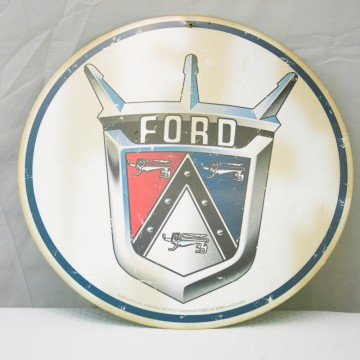 Plaque metal ronde ford
