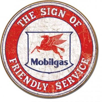 plaque metal vintage Mobilgas