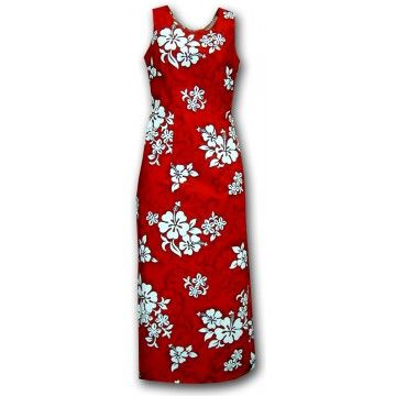 Robe hawaiienne retro rouge