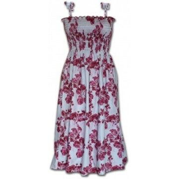 robe hawaienne rose