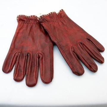 gants Motostuka rouge