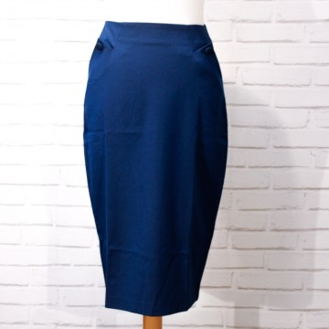 jupe crayon retro lisa blue