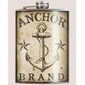 Flasque whisky ancre marine retro