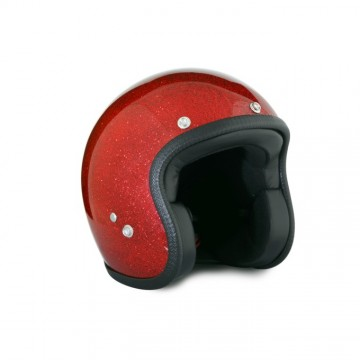 casque red metalflake 70's Helmet
