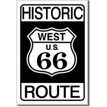 Plaque route 66 historic