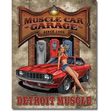 Plaque métal muscle car garage
