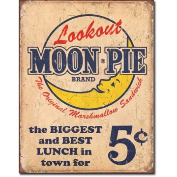 plaque metal moon pie best lunch