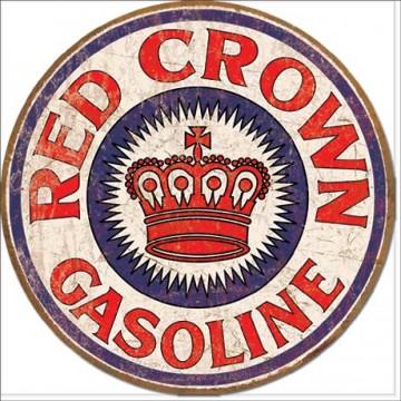 Plaque métal red crown gasoline