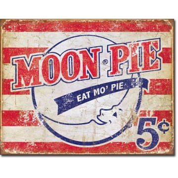 Plaque métal moon pie