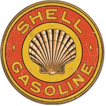 PLaque métal shell gasoline