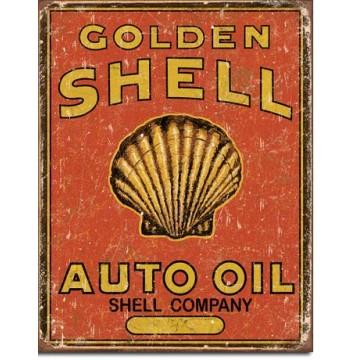 plaque métal shell