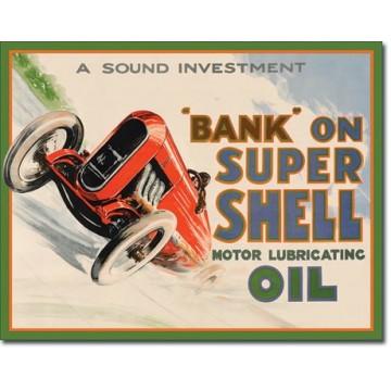 Plaque métal shell bank on