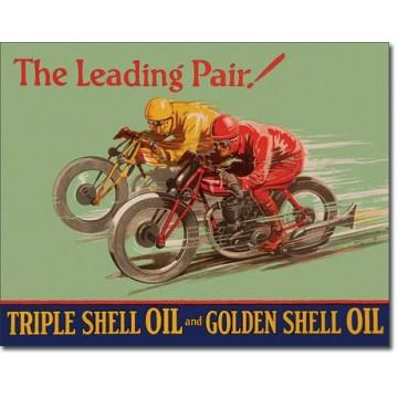 plaque métal shell winning pair