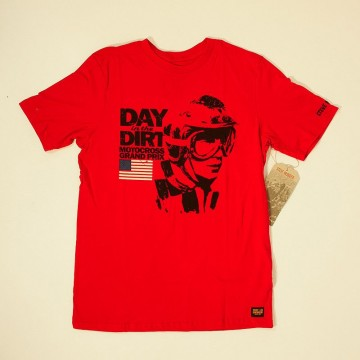T-shirt McQueen Day in the Dirt Rouge