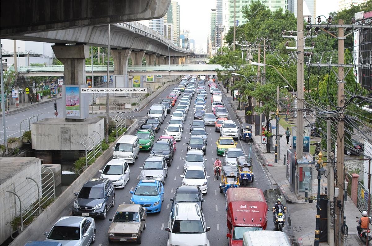 En 2 roues, on gagne du temps à Bangkok